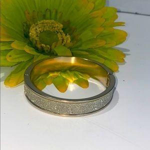 Vintage • rhinestone bangle bracelet